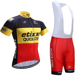 Wholesale Cycling Jersey Set Quick Step - 2017 Hot Quick step Bike Jerseys cycling clothing set Roupa Ciclismo 100% Polyester Cycling jerseys With Gel Pad Shorts E2302