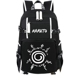 Wholesale Pictures Logos - Printing picture backpack Naruto daypack Rune logo schoolbag Cartoon rucksack Sport school bag Outdoor day pack