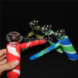 Wholesale Function Foods - New silicon hammer 6 holes silicone percolator bubbler water pipe matrix smoking pipes tobacco pipe bong bongs showerhead perc two functions