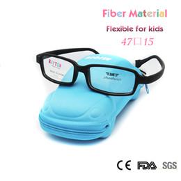 Wholesale Unbreakable Eyeglasses - Wholesale- ZBZ New Kids Glasses Frame Girls Boys Fiber Fexible Eyeglass Frames Unbreakable Glass with Strap 47 Size