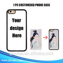 Wholesale Custom Logo Iphone Cases - 2017 Hot New Diy Customized Case Custom Logo Design Photos Printed Phone Case Cover for iphone 7 7plus Mobile Phone Case