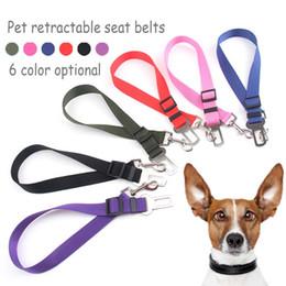 Wholesale Retractable Belt Dog Leash - New 2.5cm Wide High-quality Nylon Material Pet Retractable Dog leash Car Safety Belt 6 color