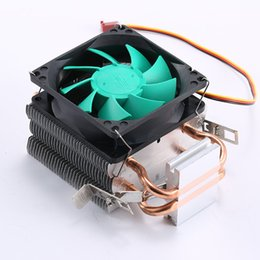 Wholesale Intel Am3 - Wholesale- cpu cooler Copper double heat pipe CPU radiator brass tower cpu fan for INTEL 775 1150 1155 1156 AMD 754 939 AM2 AM3
