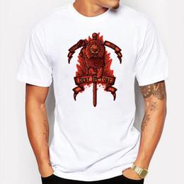 Wholesale Animal Hearing - Men's Clothing Hip Hop Men Tee Shirt Printed Hear Me Roar lion Animal T Shirt Casual O-Neck Short Sleeve T-shirt