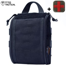 Wholesale Medical Pouches - Multi-Purpose Tactical Medical Bag Nylon Utility Gadget Pouch Tools Waist Bags Outdoor First Aid Medic Pack Medical Care Bag CP Multicam