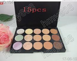 Fábrica de crema de chocolate online-Envío directo directo de fábrica Perfect Cover 15 colores Cream Concealer Palette