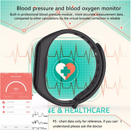 Wholesale Wireless Monitoring Camera Android - Smart Band blood Pressure Watches F1 Smart Bracelet Watch Heart Rate Monitor Smart Band Wireless Fitness For Android IOS