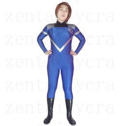 Wholesale Invisible Woman Costumes - Fantastic Four Zentaibodysuit Invisible Woman Spandex Superhero Costume