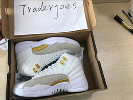 Wholesale Men Threading - 2017 Mens and Women Air Retro 12 12S OVO X White Basketball Shoes for Men Sneakers US5.5-US13 Athletics Shoes