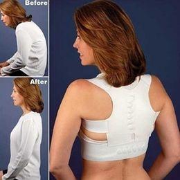 Wholesale Back Pain Support - Adjustable Magnetic Back Support Straps Girls Boys Back Posture Support Corrector Belts Back Pain Brace Belt Fitness Sports Protections