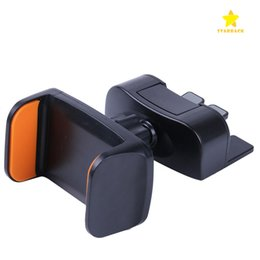 Wholesale Galaxy Car Cradle - Universal CD Slot Car Mount Adjustable Cellphone Holder Cradle for iPhone 7 Plus Samsung Galaxy S8 LG Huawei Smartphones