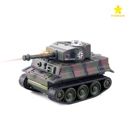 Wholesale Military Toys Tanks - Mini Remote Control Tank Remote Control Toy Electric Lighting Wireless Remote Tank Electric Model with Package