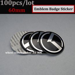 Wholesale Forte Wheels - Wholesale Free Shipping 100pcs OPTIMA K2 K3 K4 K5 sorento car wheel hub cap wheel center badge cover emblem label 60mm Auto accessories