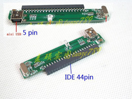 """Wholesale Ide 44pin - Wholesale- 44Pin 44P IDE PATA Parallel ATA Female to Mini USB F Converter Adapter For Laptop 2.5"""" HDD Hard Disk Drive Internal to External"""