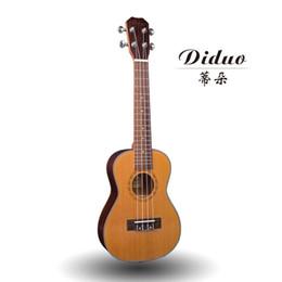 Wholesale Guitar Korean - Wholesale-Top Solid Concert Ukulele 23 Inch Mini Guitar 4 Strings Korean Pine Rose Wood Ukelele Guitarra Handcraft Uke High Quality