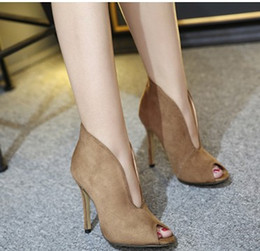 Wholesale foreign trade hot style Europe station stars the most high heels high heeled shoes pumps peep toe shoe