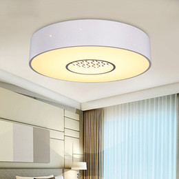 Wholesale Variable Color Led - Modern simple iron acrylic ceiling lamp round bedroom study children's room lamp led warm three-color variable light ceiling