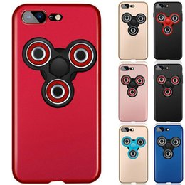 Wholesale Fingertip Covers - Hand Spinner Phone Case For Iphone 6s 7 plus Samsung s8 plus s7 edge Huawei P10 Separate Fingertips Gyro Frosted Hard PC Cover