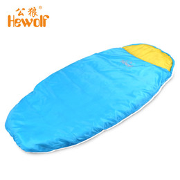 Wholesale Cotton Barrel Bag - Outdoor Ultralight Children Single Sleeping Bag Envelope Compression Cotton Keep Warm Camping Tent Bed Camping Equipment 900g