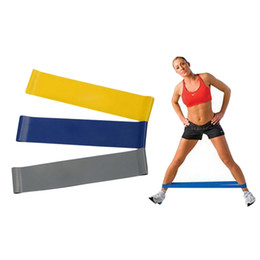 Wholesale Yoga Bands - Fitness Yoga Resistance Bands 4 Level Pilates Rubber Resistance Band Loop Cord Crossfit Elastic Strap Bodybuilding Strength Exercise Cirlce