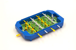 Wholesale interactive tables - Mini Table Football Top Foosball Board Game Home Soccer Game Set Football Toy Gift for Boys 20*3.5*12cm