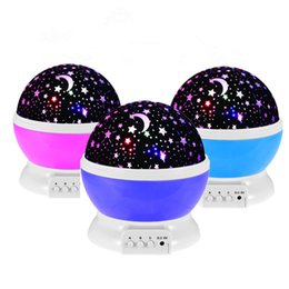 Wholesale Lam Wholesale - Rotation Night Light Starry Star Moon Sky Romantic Night Projector Light Lam Decorating Wedding, Birthday, Parties Free shipping