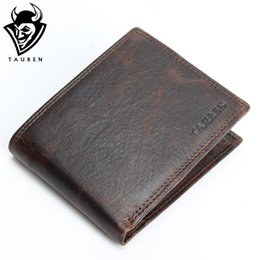 Wholesale Vintage Horse Photo - Wholesale- Small Vintage Wallet Brand High Quality Vintage Designer 100% Genuine Crazy Horse Cowhide Leather Men Short Coin Purse Wallet