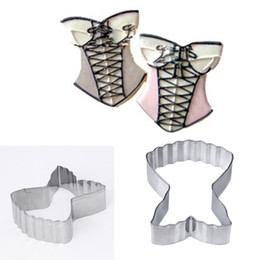 Wholesale Baked Products - DIY Sexy Lace Dress underwear Shape Cookie Cutter Mould Stainless Steel Metal Mold Pastry Biscuit Cake Tools Baking Product