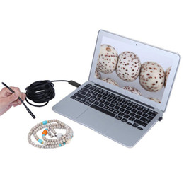 Wholesale Usb Video Inspection Camera - 2 In 1 1 1.5 2 3.5M Carble 9mm 6 LEDs Mini Endoscope Waterproof Borescope Micro USB Inspection Video Camera for Android & PC Endoscopio