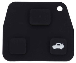 Wholesale Easy Button Wholesale - 2016 New C91 Car Remote Key Holder Case Shell 3-button Rubber Pad for Toyota Easy to Install Protect Buttons From Excessive Wear