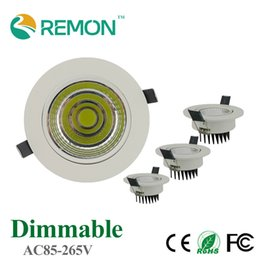 Wholesale flood light dimmable - Wholesale- Energy Saving COB Downlight Dimmable 5w 10w 20w LED Recessed Ceiling Bulb Super Bright Spot Light Fixture Flood lighting Lamp