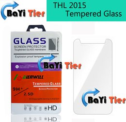 Wholesale Thl Wholesale - Wholesale-For THL 2015 Tempered Glass 100% Official Original Screen Protector Film Phone Case for THL 2015 in Stock Free