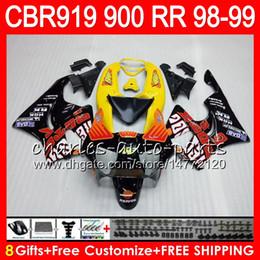 cestini cbr919rr Sconti Corpo per HONDA CBR 919RR CBR900RR CBR919RR 98 99 CBR 900RR Repsol arancio 68HM15 CBR919 RR CBR900 RR CBR 919 RR 1998 1999 Kit carena 8Gift