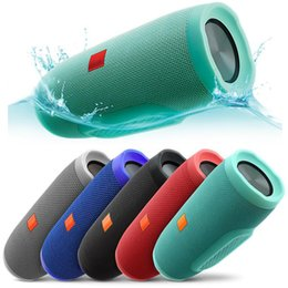 Wholesale Portable Speakers Mp3 - portable speaker waterproof Splashproof Wireless Bluetooth Speaker High Quality Built-in 2400mAh Rechargeable Battery for phone smartphones