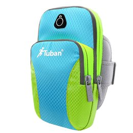 Wholesale Mobile Phone Cycling - Tuban Men Women Outdoor Sports Waterproof Mobile Phone Arm Bag For Running Fitness Cycling Feflective Fabrice 4-6 inch Phone