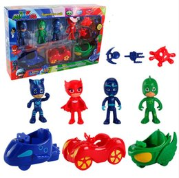 Wholesale Funny Cartoons Kids - Kid's Funny Hero PJ Mask Figure Toys PJ Masks Gliding Car Series Catboy Gekko Cartoon Anime Figure Toys Children Gifts