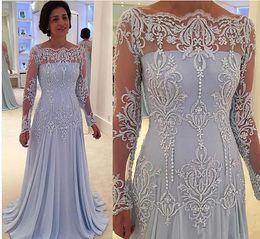 d828d53b5d1 Hot sale 2017 Vintage Long Sleeves Mother of Bride Groom Dresses plus size  Lace Appliques modest Mother Dresses Floor Length formal gowns discount hot  ...