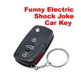 Wholesale Toys Remote For Car - Funny Electric Shock Gag Joke Prank Car Key Joke Car Remote Control Funny Toys for Kids Children Gift