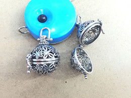Wholesale Heart Pendant Filigree - 2016 hot sale 10pcs Filigree Cage Music Chime Ball Baby Caller Lockets Pendants For Prenatal Edutation DIY Pregnancy Necklace