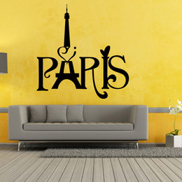 Wholesale Paris Wall Quotes - For Eiffel Tower Paris Love Vinyl Art Quotes Personality Interesting Wall Stickers Home Mural Diy Decal Decor