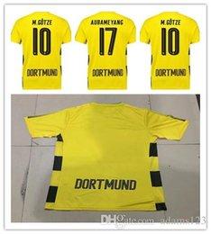 Wholesale Borussia Dortmund Jersey Reus - 17 18 Borussia Dortmund jersey Thai quality 2017 2018 Dortmund succer jersey AUBAMEYANG GOTZE MOR KAGAWA REUS home away futbal SAHIN shirt