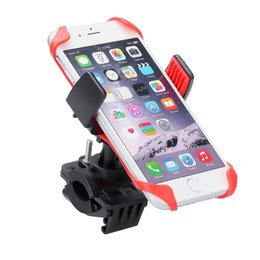 Wholesale Motorcycle Iphone Holders - Motorcycle Bicycle MTB Bike Handlebar Mount Holder Universal For Cell Phone GPS, iPhone 7 7 Plus Samsung Galaxy Note 5 4 S7 HTC