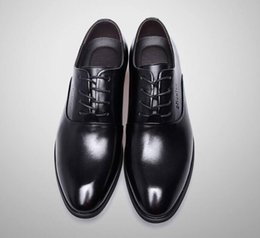 Wholesale Italian Wedding Dress Designers - Fashion Italian designer formal mens dress shoes black luxury wedding shoes men flats office for male