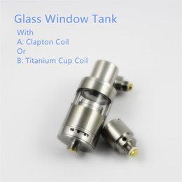 Wholesale New Factory Design - 2017 New Design Glass Window Atomizer Tank With Clapton Wire Coil and newest Titanium Cup Coil for choose Factory wholesale