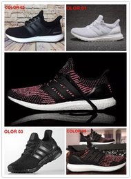 Wholesale Black Waterproof Shoes - 2017 Ultra boost 3.0 Triple Black Running Shoes Men Women Top Quality Ultra Boost Hypebeast Primeknit Core Black White Athletic size36-45