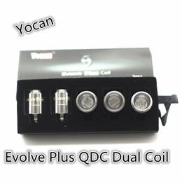 Atacado-Original mais novo Yocan Evolve Plus QDC dupla bobina gosto puro 5pcs / lot para Yocan evoluir mais kit de cera de