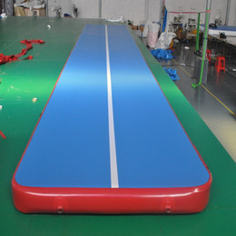 Wholesale Pvc Mat Yoga - inflatable gym mat many size physical exercise Air Tumble Track yoga mat Gymnastics training use for Olympic Games and Taekwondo or yoga
