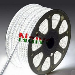 Wholesale Wholesale Neon Sign - NEW SMD5050 RGB LED Strip 110V 220V 25M 1500 LEDs LED Strips IP66 Waterproof LED Neon Sign Light