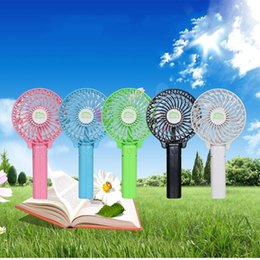 Wholesale Ceiling Clips - NEW Handy Usb Fan Foldable Handle Mini Charging Electric Fans Snowflake Handheld Portable For Home Office Gifts RETAIL BOX DHL free shipping