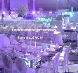 vaso di fiori in acrilico stand tromba in metallo vaso per decorazione centrotavola matrimoni da